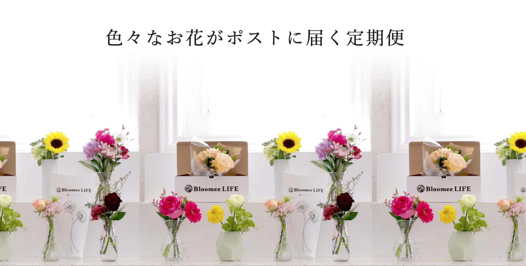 お花の定期便Bloomee LIFEでお花のある暮らしを!